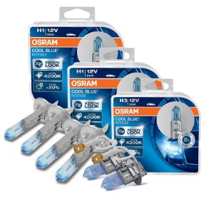 Kit Completo Lâmpada Cool BLue Lifan 620 09-13 Osram