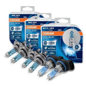 Kit Completo Lâmpada Cool BLue Nissan March 11-14 Osram
