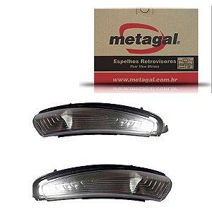 Par Pisca Retrovisor Fiat Argo 2017-2019 Original Metagal
