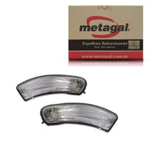 Par Pisca Retrovisor Fiat Idea 2011-2017 Original Metagal
