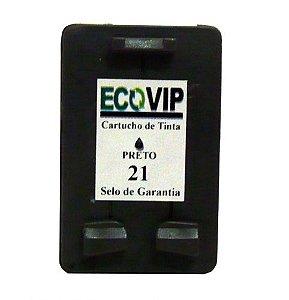 CARTUCHO DE TINTA HP 21 | C9351A, C9351AB | PRETO  Compatível Novo Ecovip