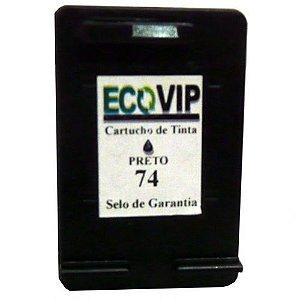 Cartucho Para Impressora Hp Photosmart C4240 - Hp 74 (cb335) Compatível Novo Preto Ecovip