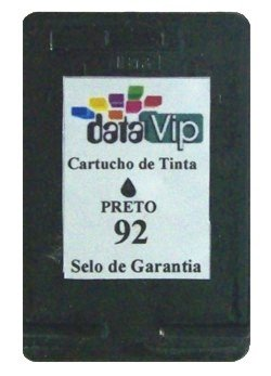Cartucho Para Impressora Hp Deskjet E Officejet - Hp 92 (c9362) Compativel Novo Preto Datavip