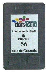 Cartucho Para Impressora Hp Deskjet E Officejet - Hp 56 (c6656) Compativel Novo - Datavip