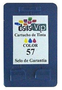 Cartucho Para Impressora Hp Deskjet E Officejet - Hp 57 (c6657) Compativel Novo - Datavip