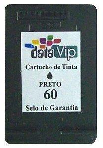 CARTUCHO DE TINTA COMPATÍVEL COM HP 60XL 60 PRETO CC641WB | C4680 C4780 D1660 F4280 F4580 F4480 14ML Datavip