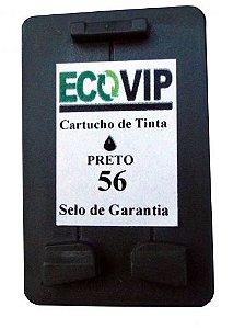 Cartucho Para Impressora Hp Photosmart 7150 - Hp 56 (c6656) Compatível Novo - Ecovip