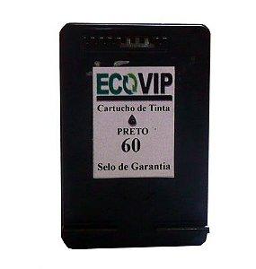 CARTUCHO DE TINTA COMPATÍVEL COM HP 60XL 60 PRETO CC641WB | C4680 C4780 D1660 F4280 F4580 F4480 14ML Ecovip