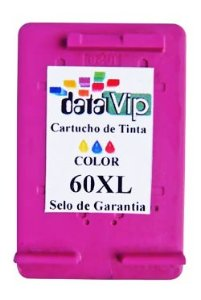 CARTUCHO DE TINTA COMPATÍVEL COM HP 60XL 60 COLOR CC644WB | F4480 F4580 F4280 D1660 C4780 C4680 10ML-DATAVIP