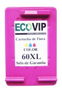 CARTUCHO DE TINTA COMPATÍVEL COM HP 60XL 60 COLOR CC644WB | F4480 F4580 F4280 D1660 C4780 C4680 10ML- Ecovip