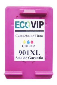 CARTUCHO DE TINTA COMPATÍVEL COM HP 901XL 901 CC656AB COLORIDO | J4580 J4680 J4660 J4500 J4550 Ecovip