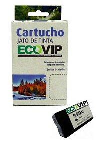 Cartucho Hp 950xl Bk Compatível Ecovip