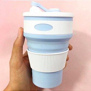 Copo de Silicone Retrátil 350ml BPA Free