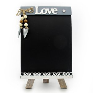 Mini Cavalete Quadro Negro Love