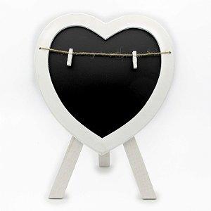 Quadro Negro Giz Cavalete Coração