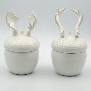 Pote Chifre Cerâmica