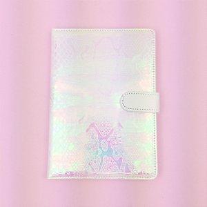 Caderno Sereia Holográfico Fecho Imã