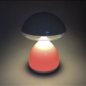 Luminária Cogumelo Recarregável USB