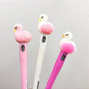 Caneta Flamingo Luz Ponta Fina