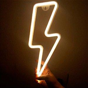 Luminária Raio Neon Led de Parede USB e Pilha