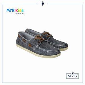 Dockside MYR infantil - Camurça resinado cinza