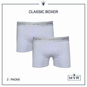 Classic boxer 2 pack branco
