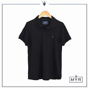 Camiseta Polo - Preta