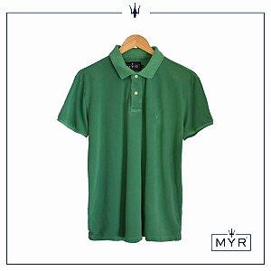 Camiseta Polo - Verde Lavado