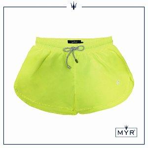 Short feminino - Amarelo neon