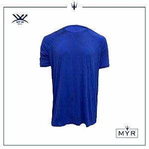 Camiseta UVSKIN azul bic palm