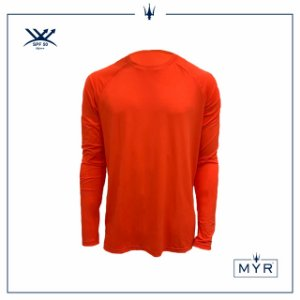 Camiseta UVSKIN manga longa laranja run
