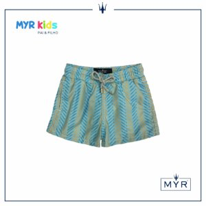 Short Infantil - Fish Blue Orange