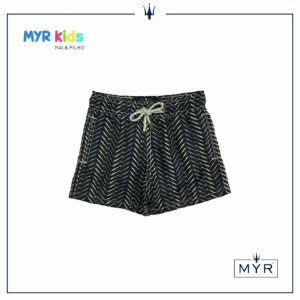 Short Infantil - Little Fish Blue