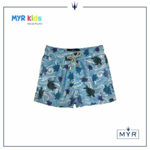 Short Infantil - Wave Turtle