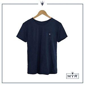 Camiseta 100% Algodão Egípcio - Azul Marinho