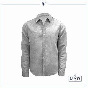 Camisa de linho cinza