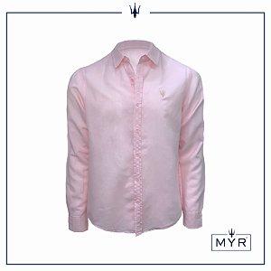 Camisa de linho rosa