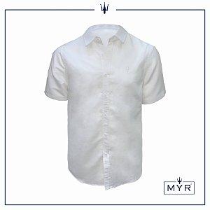 Camisa de linho branca - manga curta