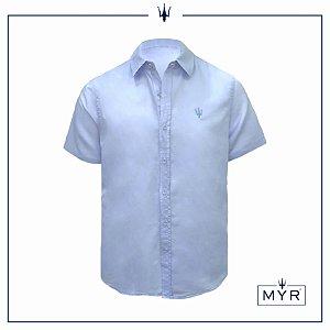 Camisa de linho azul - manga curta