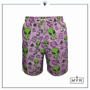 Short Comprido Est. - Purple Et