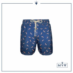 Short curto est. - Banana Pink & Blue