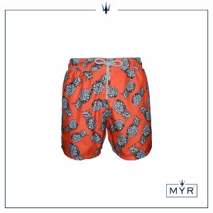 Short curto est. - Pineapple Orange&Black