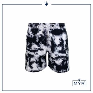Short curto est. - Tie Dye Black