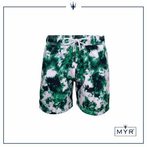 Short curto est. - Tie Dye Green