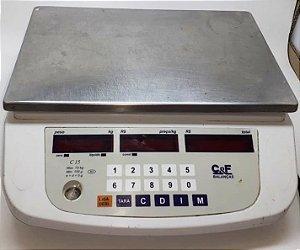 Balança C&F modelo C-15 Capacidade 15kg - Revitalizada