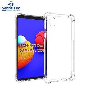 Case De Silicone Transparente  Anti Impacto Para Samsung Galaxy A01 Core