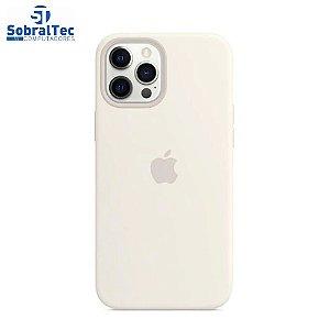 Case De Silicone Para iPhone 12 Pro Max Na Cor Bege