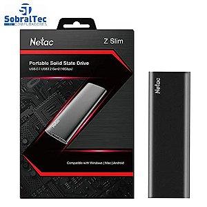 Ssd Externo USB 3.2 Tipo C 500Gb 510Mb/s De Leitura E 440Mb/s De Escrita Netac