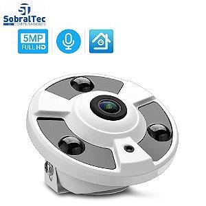 Câmera Ip Hamrolte 5MP  Wi-Fi  Interna Visão Noturna Detecção Humana Áudio Com Duas Vias