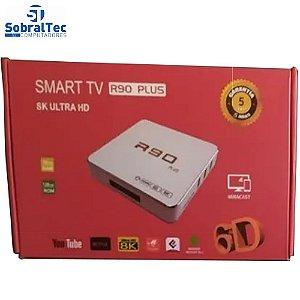 Smart TV Box R90 Plus 128GB / 16GB RAM / Android 10.1 / 8K - Branco